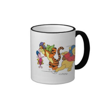 Winnie the Pooh, Tigger and Piglet Football Ringer Coffee Mug