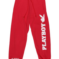PLAYBOY SWEAT PANTS / RED