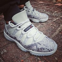 Air Jordan 11 Low Snakeskin ¡°Light Bone¡± CD6846-002