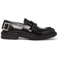 Alexander McQueen - Embellished Leather Loafers