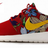 Tropical Womens Red Roshe Running Shoes