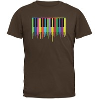 Piano Keys Brown Youth T-Shirt