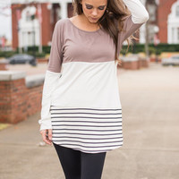 Presh Air Tunic, Taupe