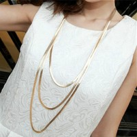 Three Layer Long Necklace