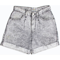 80's grey acid wash high wasted shorts