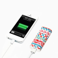 Aztec Ethnic Stripes Portable Power Bank Charger for iPhone and Samsung