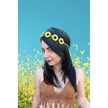 Sunflower Headband #C1021