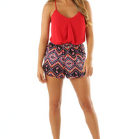 Drape Her In Red Tank Top | Hope's