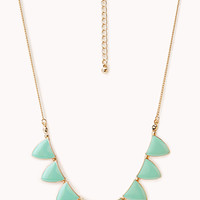 Lacquered Triangle Charm Necklace