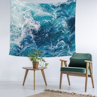 Ombre Waves Wall Tapestry