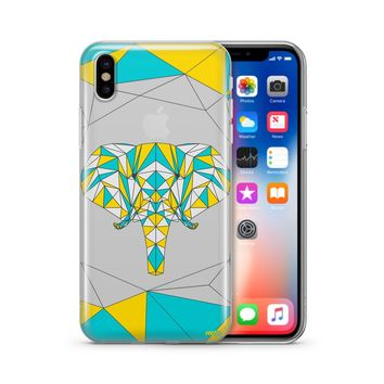 Two Tone Elephant - Clear TPU Case Cover