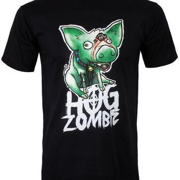 Zombie Petz Hog Zombie Men's Black T-Shirt