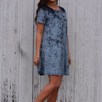 New Beginnings Velvet Dress