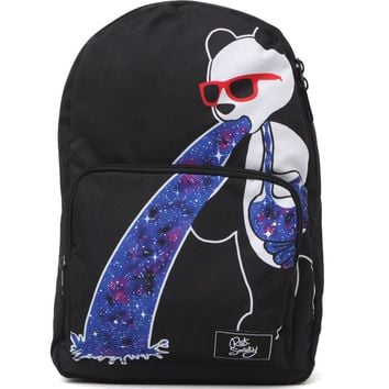 Riot Society Panda Puke School Backpack - Mens Backpacks - Black - NOSZ