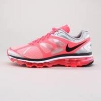 Womens Nike Air Max+ 2012 Running Shoes White / Anthracite / Hot Pink / Pure Platinum 487679-106 Size 8.5