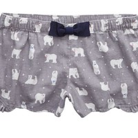 Aerie Women's Flannel Boxer (Silver Shadow)