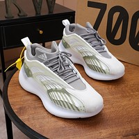 Adidas YEEZY  Men Fashion Boots fashionable Casual leather Breathable Sneakers Running Shoes
