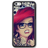 Tattoo Ariel Little Mermaid Design Hard Case Cover Skin for iphone 6 case iphone 6plus iphone 5 5s 4 4s iphone 5c Samsung Galaxy S5 S3 S4 note 2 note3 note4 (Case for iPhone 6plus(Black Hard))