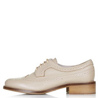 KATIE Lace-Up Brogues - Nude