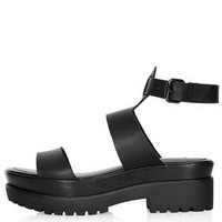 FERNANDO Chunky Sandals - Black