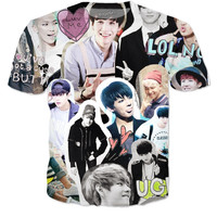 BTS Tumblr Collage Shirt
