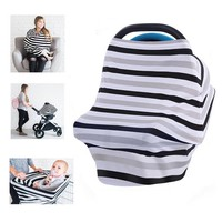 Multifunctional Breastfeeding nursing cover Newborn baby stroller cart cover stripe car seat cover the wind the sun wipes