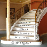 Family Wall Decal Quote Love Decals Art Mural Stair Riser Vinyl Sticker Home Bedroom Decal Stairs Decor Living Room Design Interior KY137