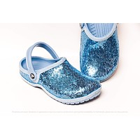 Baby Blue Starlight Sequin Clogs