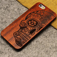 New Brand Thin Luxury Bamboo Wood Phone Case For Iphone 5 5S 6 6S 6Plus 6S Plus 7 7Plus