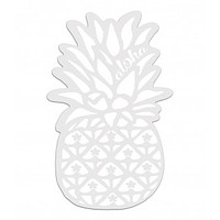 Holographic White Pineapple Vinyl Decal