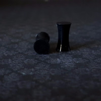 Black Silicone Plugs 6G (4mm) - 4G ( 5mm)