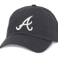 Atlanta Braves MLB Baseball Cap One Size American Needle Cotton Twill Navy