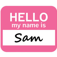 Sam Hello My Name Is Mouse Pad - No. 1