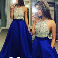 Blue Long Prom Dresses Long Prom Dress Evening Dresses