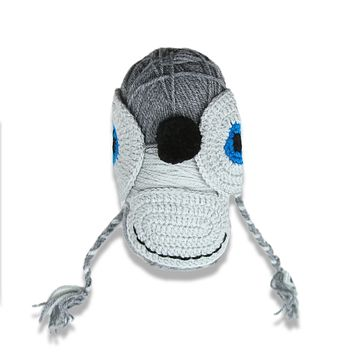 Plymouth Yarnimal Monkey Hat - Dark Grey