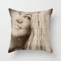 The Song In Your Heart Throw Pillow by Louisa Catharine Forsyth