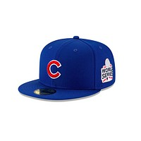 "New Era ""Chicago Cubs"" 2016 World Series Grey Bottom 59Fifty Fitted Hat"