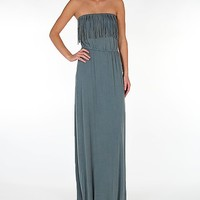 Women's Fringe Tube Top Maxi