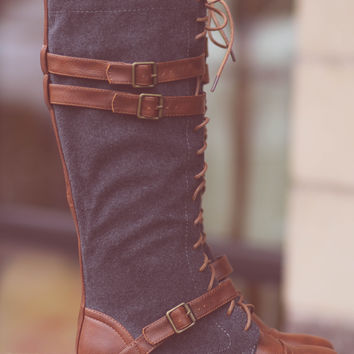 Running Into Town Tall Lace Up Boots