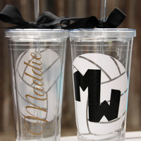 Volleyball Tumbler, Volleyball Coach, Volleyball Cup, Custom Tumbler, Acrylic Tumbler, 16 oz tumbler, 20 oz tumbler
