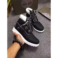 YYY Timberland For Men Women 6-Inch Premium Skull head Black and white