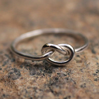Love Knot Ring tarnish resistant Argentium Sterling Silver Bridesmaid Friendship Ring Celtic knot