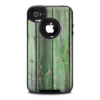 The Mossy Green Wooden Planks Skin for the iPhone 4-4s OtterBox Commuter Case