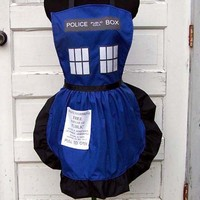 Police Box Apron Tardis Doctor Who Inspired Cosplay Costume