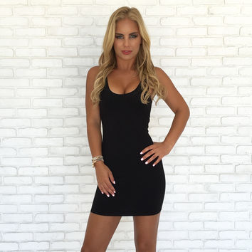 Back to the Basics Bodycon Dress in Black