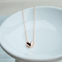 Love necklace- love heart pendant jewelry Necklace,bridesmaid Necklace Three Colors for your choice