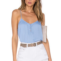 L'Academie The Button Cami Blouse in Marina
