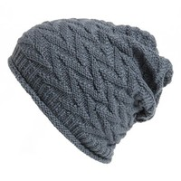 David & Young Chevron Knit Beanie (Juniors)