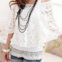 Beautiful lace with tank top