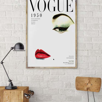 Wall artwork Fashion Poster Digital Download Printable Art Retro Poster Chic Art Printable Vintage Vogue Cover Fashion wall Art 1950 Edition